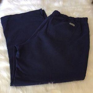 Ladies Navy Scrub Pants in XL Petite in GUC.